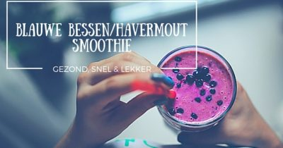 BLAUWE BESSEN/HAVERMOUT SMOOTHIE