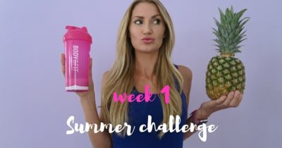 CHALLENGE – 6 WEKEN – WEEK 1 ♥ SUMMER FIT,  DOE MEE!