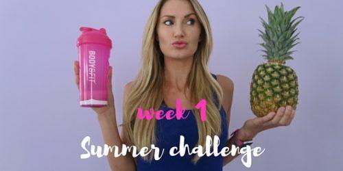 CHALLENGE – 6 WEKEN – WEEK 1 ♥ SUMMER FIT,  DOE MEE!