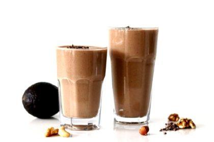Gezonde chocolade amandel shake