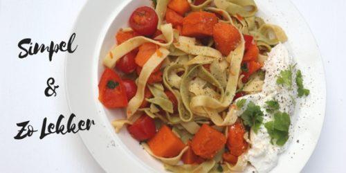 Tagliatelle met pompoen en ricotta | Vegetarisch recept