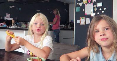 Kinderen proberen vegan tussendoortjes
