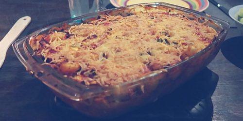 Vegetarische Italiaanse ovenschotel