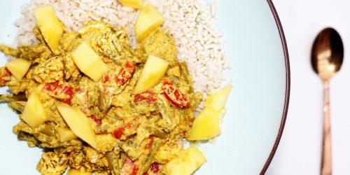 Vegetarische Indiase curry madras