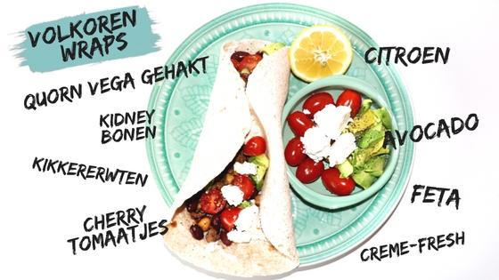 volkoren wraps vegetarisch